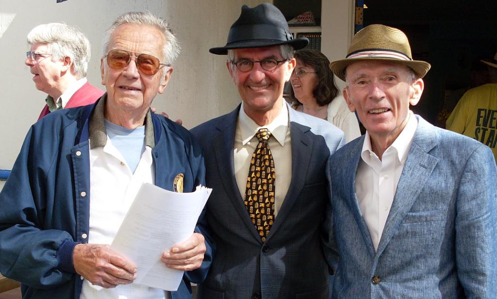KCBS legends Ken Ackerman, Stan Bunger and Al Hart