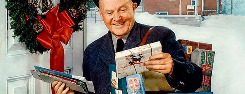 Mailman With Holiday Delivery (Art)