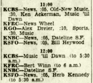 Radio Schedule (Image, January 1962)
