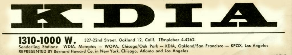 KDIA Logo (Circa 1961)