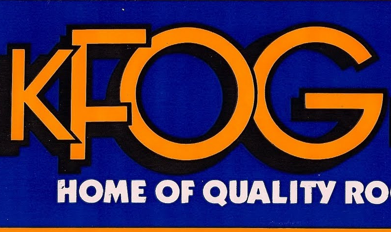 KFOG Quality Rock Sticker (Image)