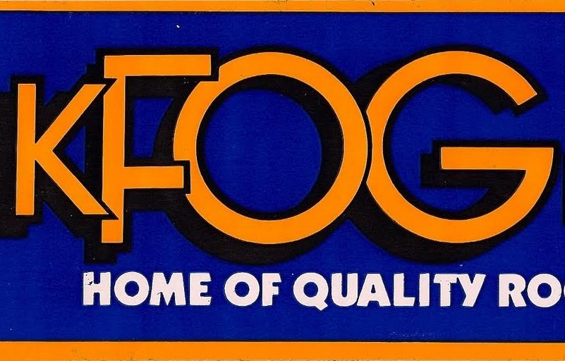 KFOG Quality Rock Sticker (Image)